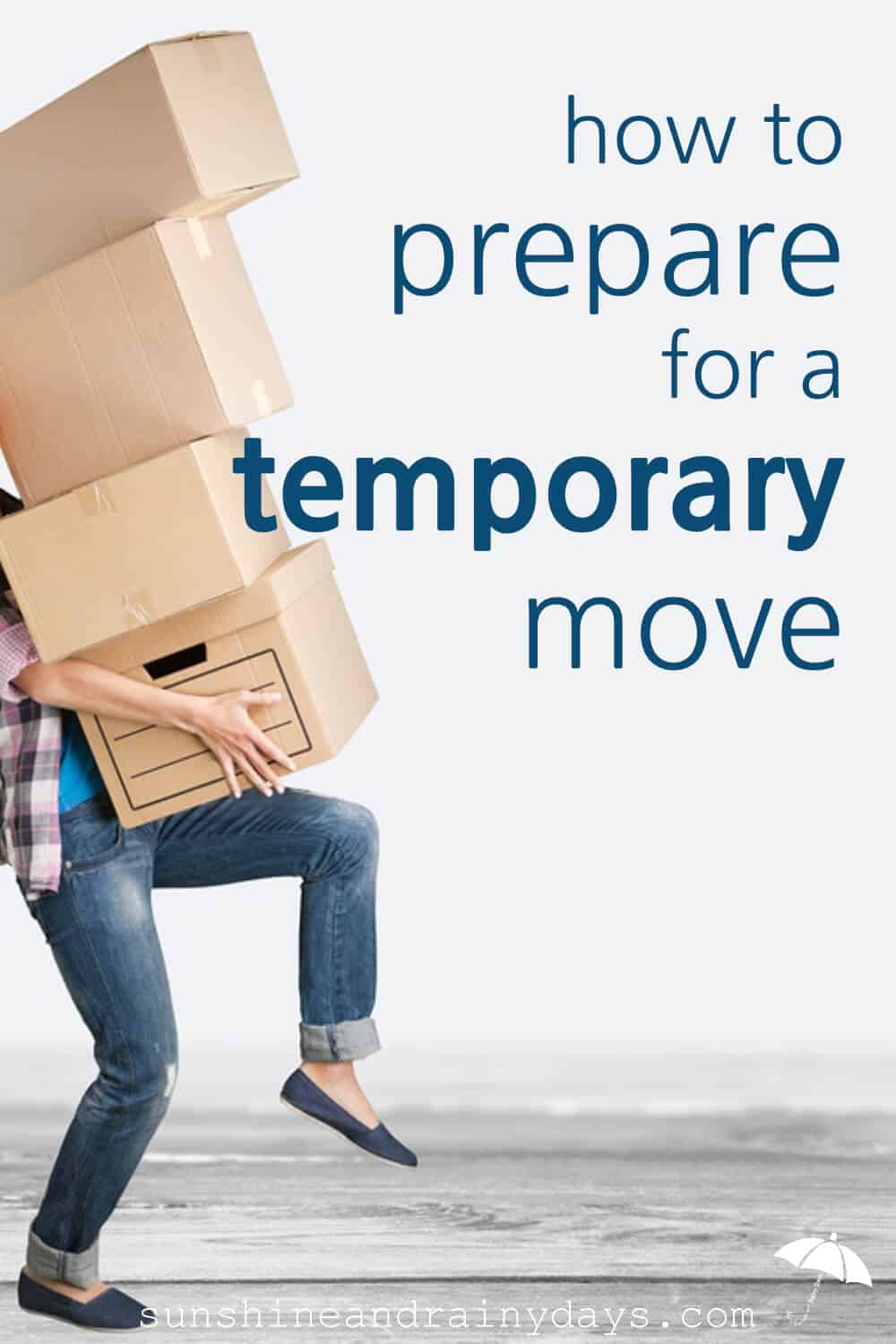 Have you found yourself in the situation where you must prepare for a temporary move? Choose what is worth the move. Determine what must be accessible. Pack in bankers boxes. Decide what could survive storage. Hold a moving sale.