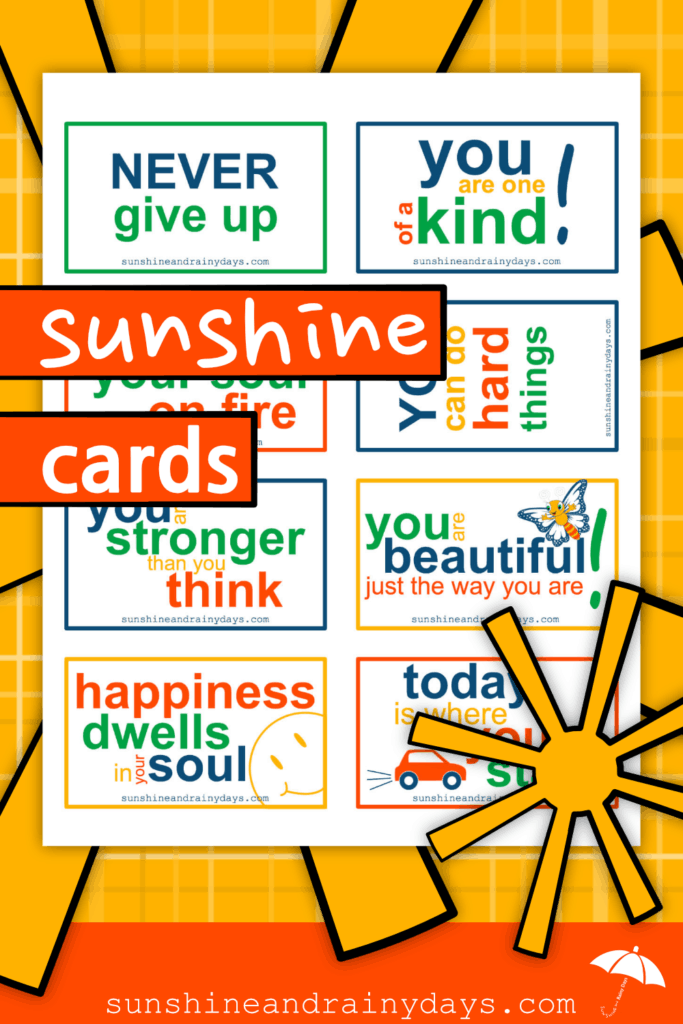 Printable Sunshine Cards