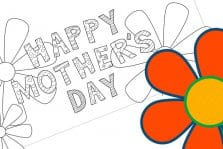 Happy Mother's Day Free Printable Card To Color