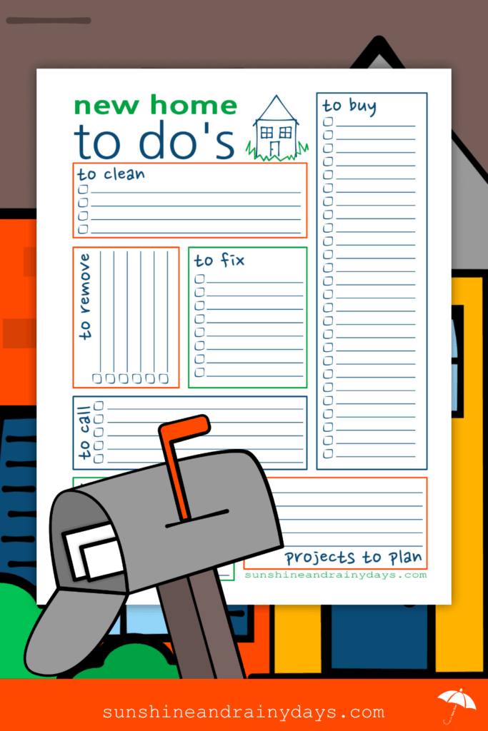 New Home To Do List