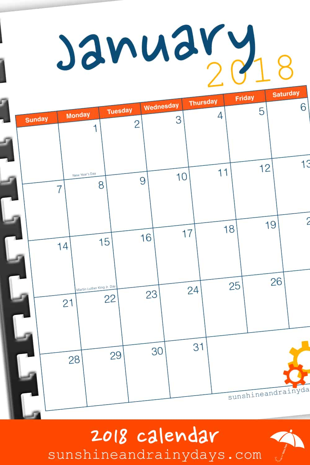 The 2018 Printable Calendar is here! Subscribe to SARD and download the calendar from their FREE Printables Library!
