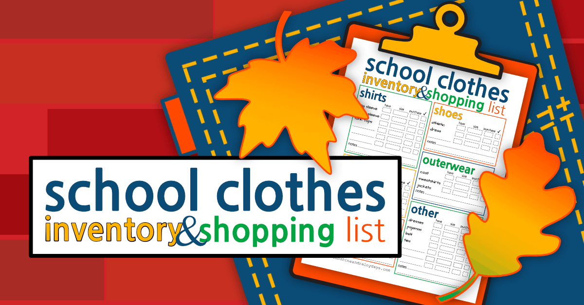 Back To School Clothes Shopping List