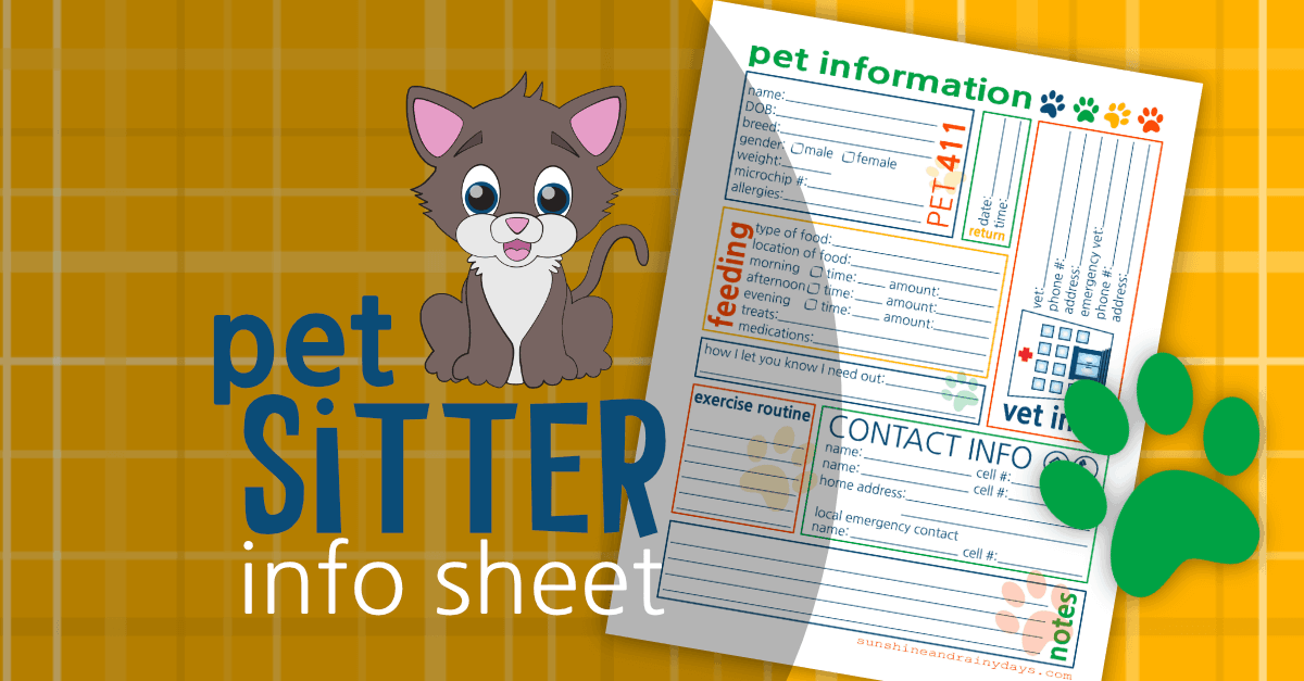 Pet Sitter Info Sheet