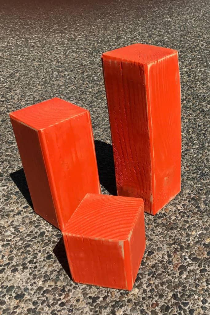 Orange blocks.