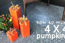 How To Make 4 X 4 Pumpkins