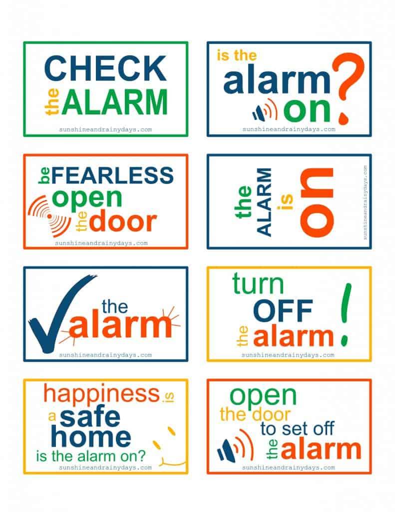 Alarm Is On! Free Printable