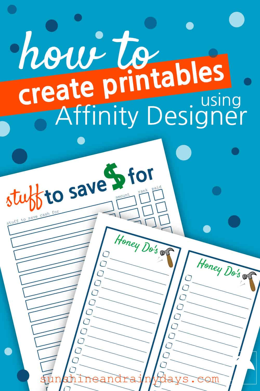 Printables with words: How To Create Printables Using Affinity Designer