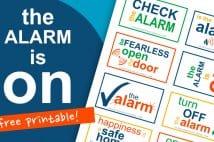 The Alarm Is On! Free Printable