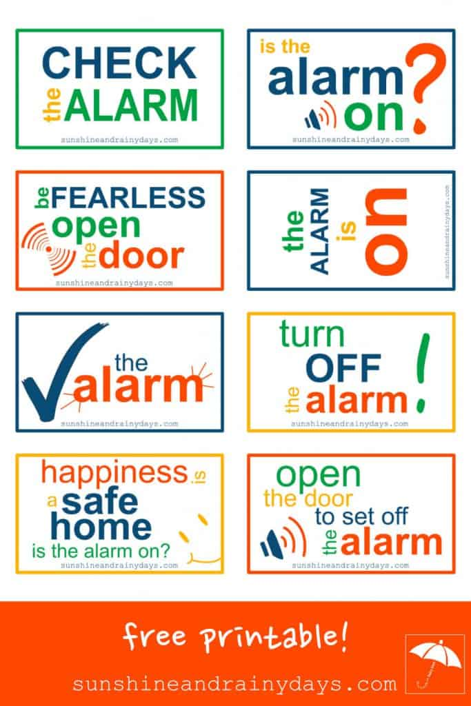 How many times have you set off the alarm when Fido wants out first thing in the morning? You jump, your heart races, you scramble to the keypad to push in your code, and hope the entire household didn't wake up. You need a reminder the alarm is on. #alarmison #printable