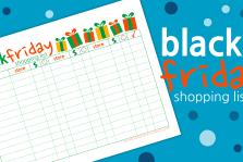 Black Friday Shopping List Printable
