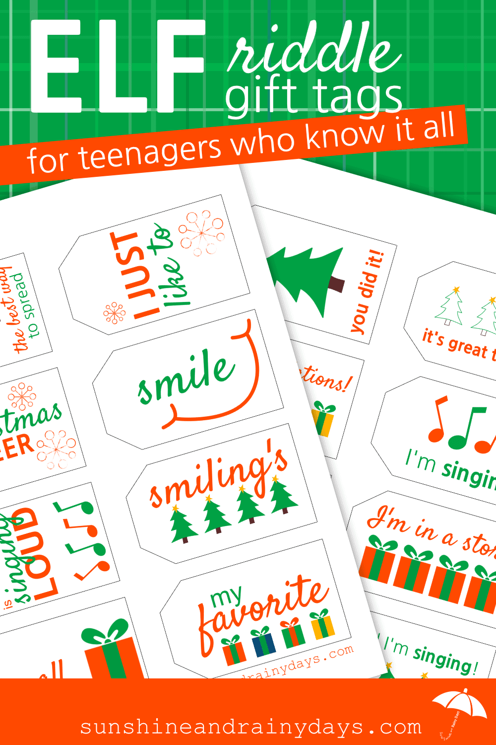 With two Know It All Teenagers in the house, there is no way I am going to put names on Christmas gifts this year. Instead I came up with Christmas Gift Tags For Teenagers Who Know It All.