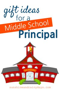 Are you looking for gift ideas for a Middle School Principal despite your kids' objections? By the time kids hit middle school it's no longer 'cool' to take gifts to school staff BUT, if you do, it is certainly appreciated! Our very own Middle School Principal has practical gift solutions for you! #giftideas #middleschoolprincipal #principal