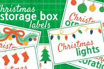Christmas Storage Box Labels