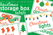 Christmas Storage Box Labels