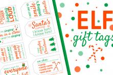ELF Gift Tags Free Printable