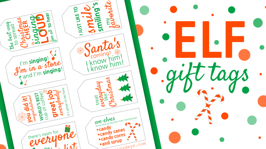 Elf Gift Tags
