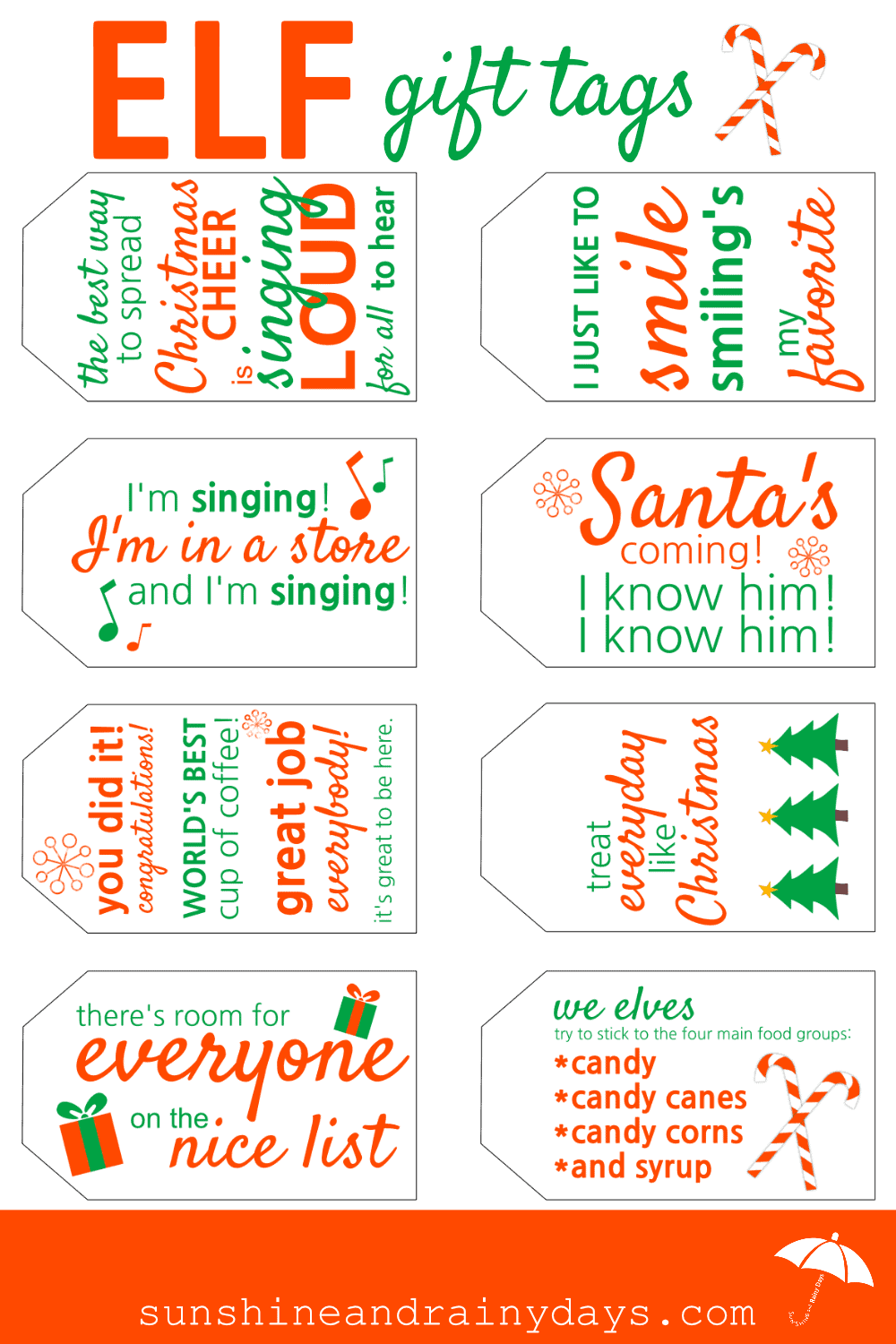 image about Free Printable Santa Gift Tags identified as ELF Reward Tags Cost-free Printable -
