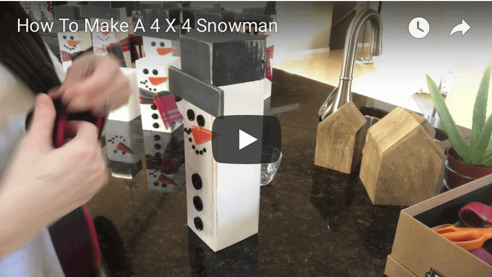 How To Make A 4 X 4 Snowman YouTube