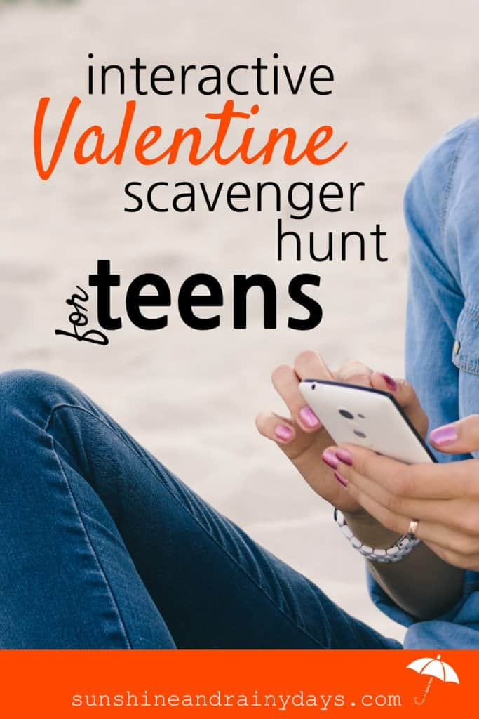 Do you want to do something FUN for your teenagers this Valentine's Day? Are you all for fun and EASY? We have just the thing for YOU! It's a Valentine Adventure For Teens! Our teens love technology so we're using it to make Valentine's Day FUN for them and EASY for you! #Valentineprintables #valentinescavengerhunt #valentinesdayforteens