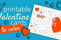 Printable Valentine Cards To Color