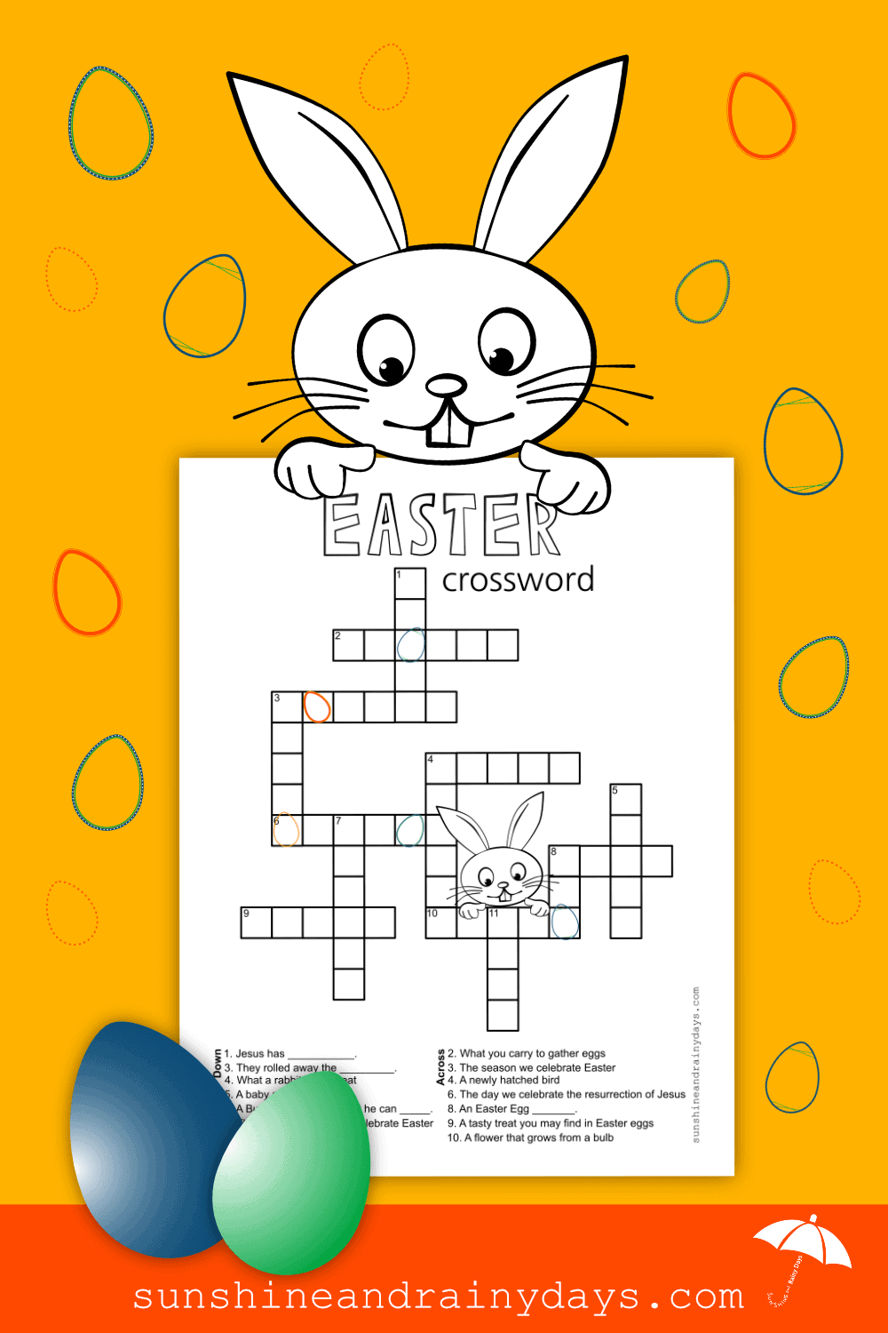 graphic about Easter Crossword Puzzles Printable named Easter Crossword Puzzle -