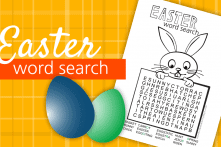 Easter Word Search Printable You Can Color!