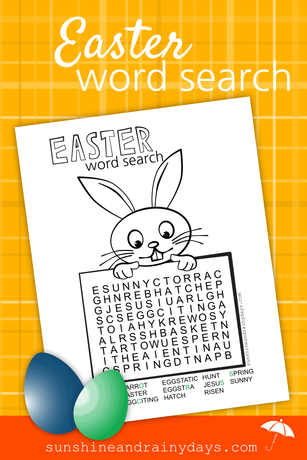 Easter is the day we celebrate the resurrection of Jesus Christ! Bunnies, chicks, and eggs represent new life and hope for our future! We have created an Easter Word Search Printable to help you celebrate!