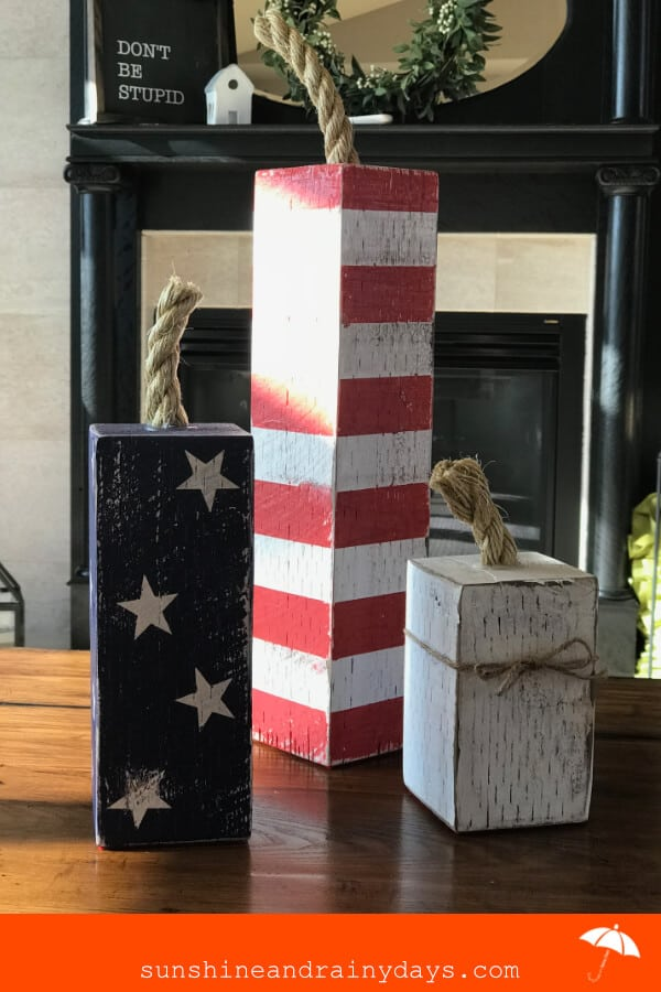 Are you ready to be festive this 4th of July? We've got an easy DIY to help you show your patriotism! The 4th of July 4 X 4 Firecrackers are fun to make and will make you excited to celebrate!