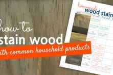 How To Make Wood Stain With Common Household Products