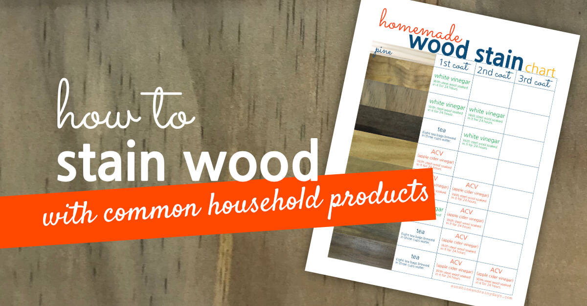 Stain Wood With Common Household Products