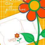 Are you giving Mom a gift card this year? This Mother's Day Free Printable Pillow Box is the PERFECT size for that gift card!