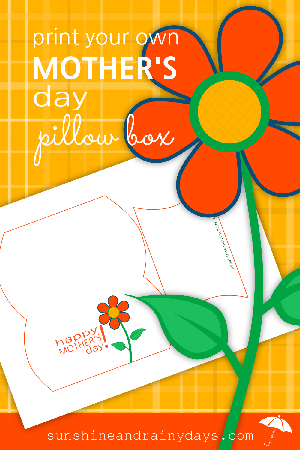 Are you giving Mom a gift card this year? This Mother's Day Pillow Box is the PERFECT size for that gift card!