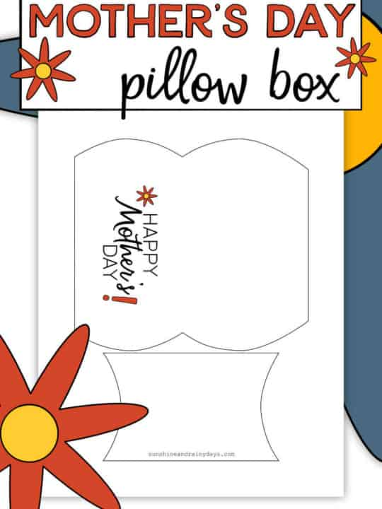 Printable Mother's Day Pillow Box