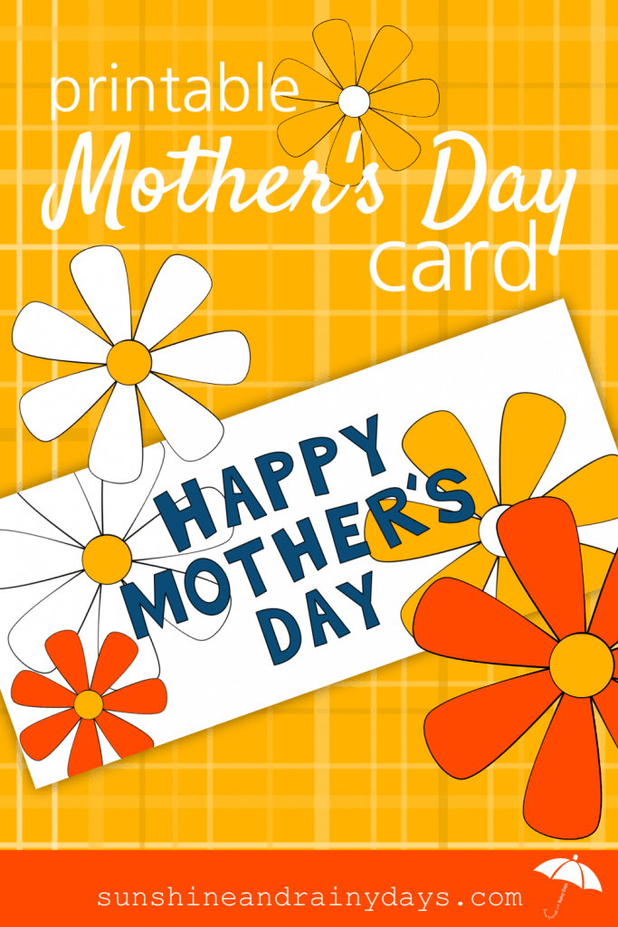 Looking for a fun and colorful Mother's Day Card you can print yourself? ThePrintable Mother's Day Card is here to save the day! After all, Mother's Day Printables save time, money, and let you focus on the gift you want to make or purchase for your mom!