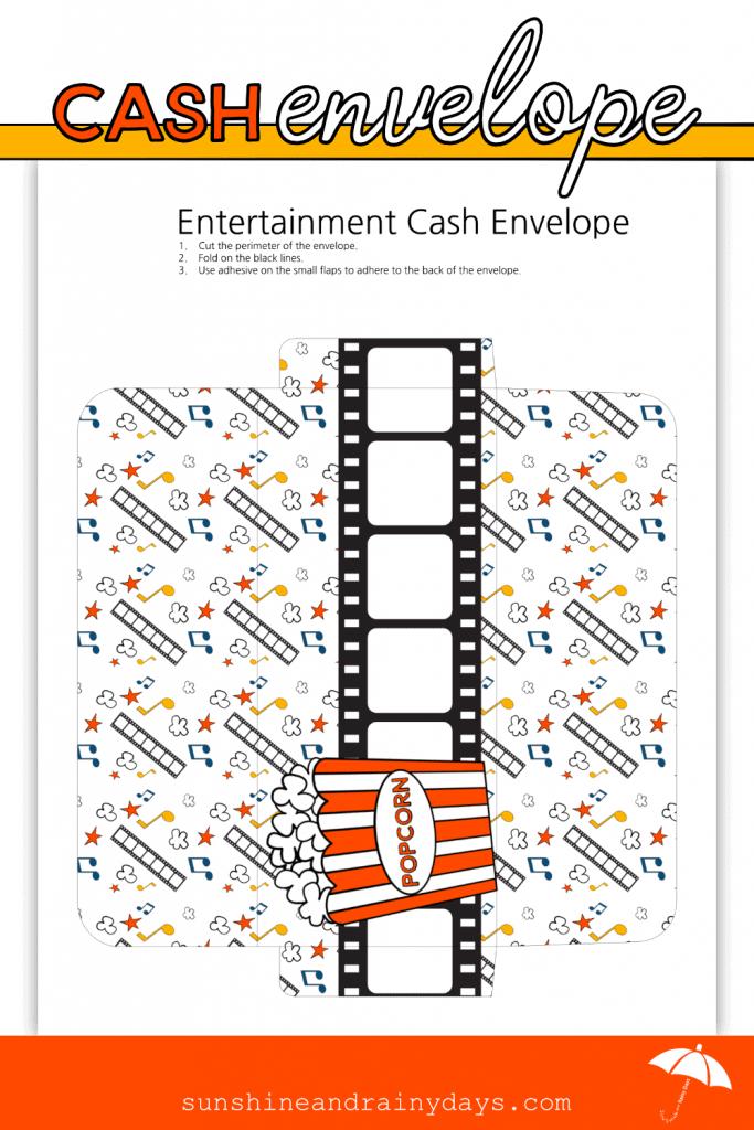 Entertainment Cash Envelope Printable