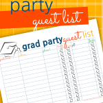 Are you planning a Graduation Party? The Graduation Party Guest List is a super efficient way to record invitees, rsvp's, gifts, and thank you's!