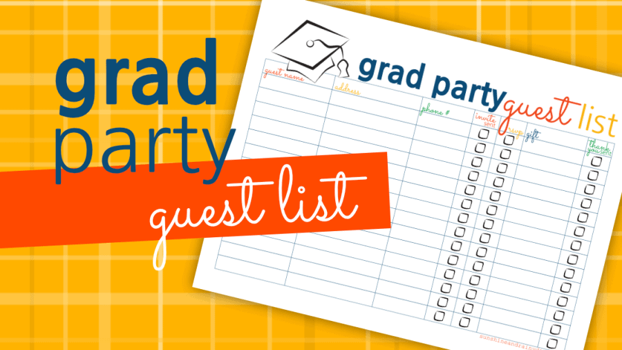 Graduation Party Guest List