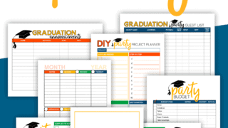Graduation Party Planner pages to print at home!