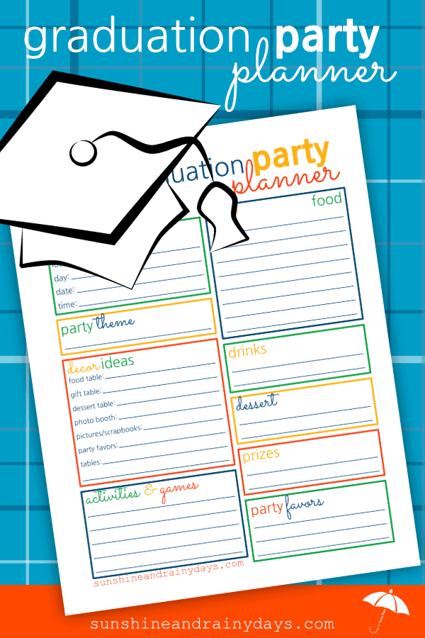 Are you ready to throw a Graduation Party? Use this Graduation Party Planner to brainstorm your ideas!