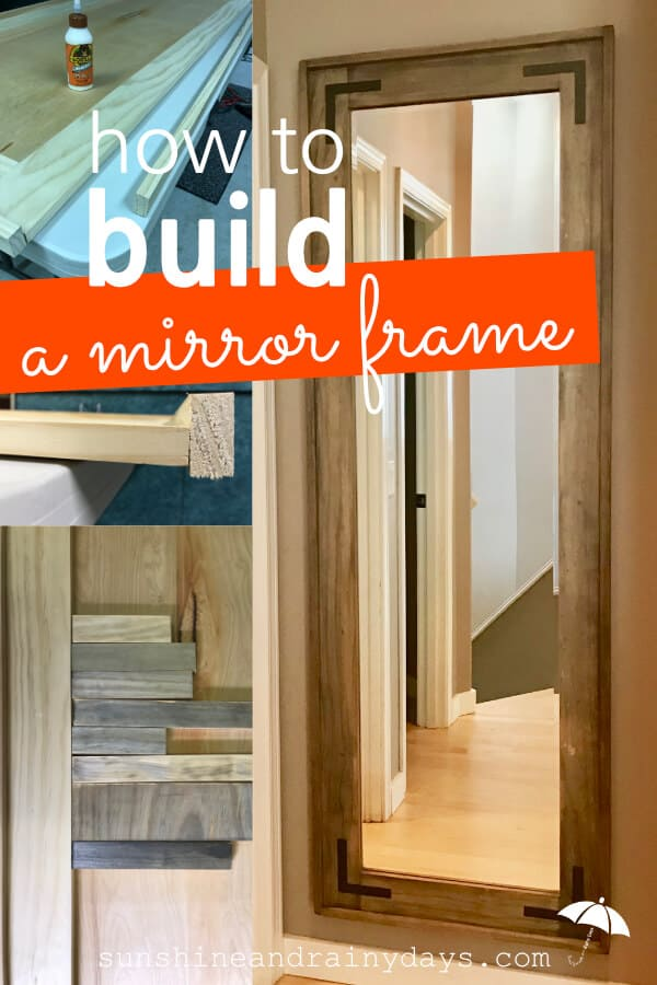 Are you ready to start building? Learn how to build a mirror frame! This full length mirror will be a substantial piece in your home!