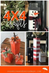 Who knew a 4 X 4 could hold so many possibilities? A quick search on Pinterest will give you hundreds of ideas on 4X4 Wood Crafts! From furniture to decor, 4 X 4's are super fun to work with! Here, we share the 4X4 Wood Crafts we have created and made ourselves!
