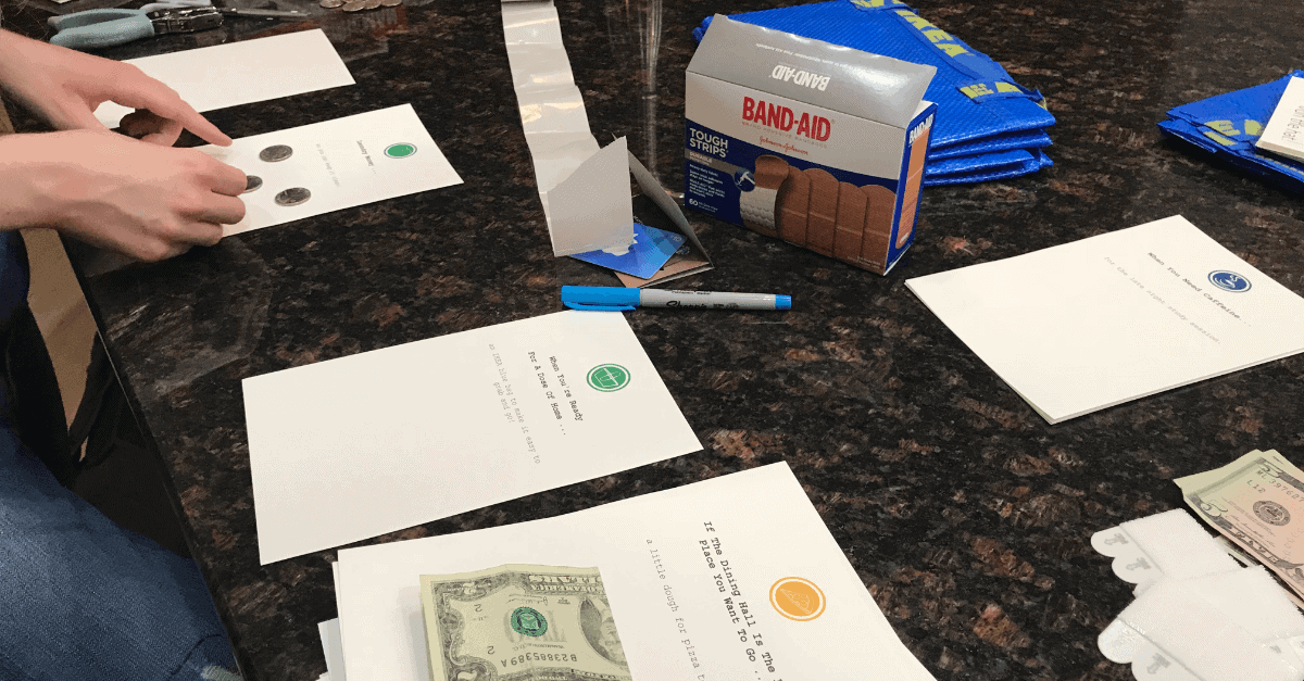 Assembling Graduation Gifts