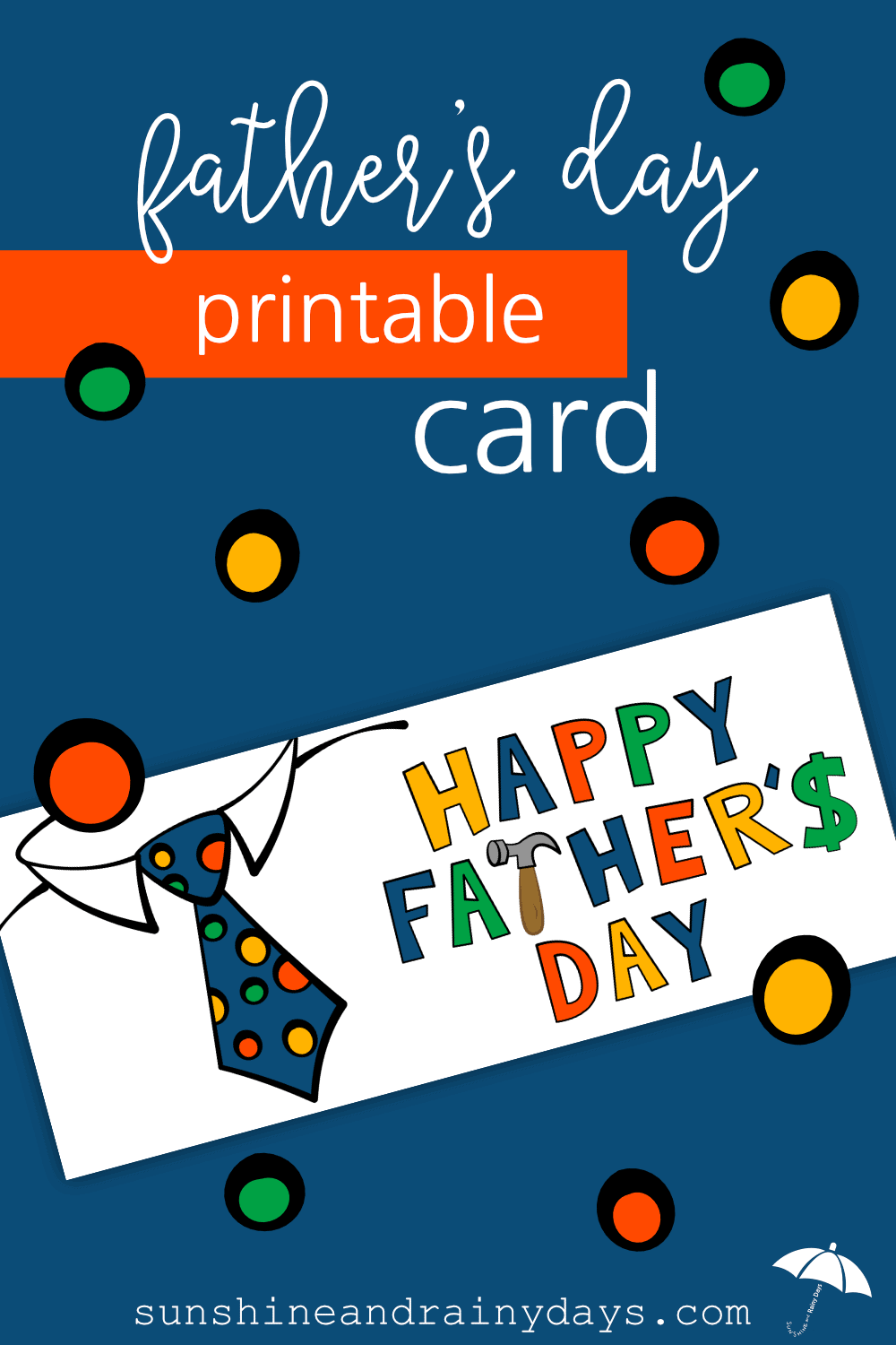 This Printable Father's Day Card is a great way to let your dad know you're thinking of him! Designed to fit in a standard business envelope, it's easy for you and meaningful for dad!