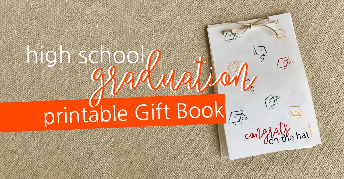 Printable Graduation Gift Book