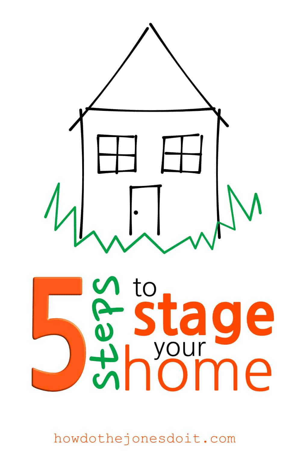 When it's time to stage your home, it's easy to get stressed and overwhelmed. It may even seem like you're turning your house upside down and chaos is winning. Spiff up your yard, sell your stuff, pack what you don't need before the mover, freshen up your home, and show a home filled with happiness!