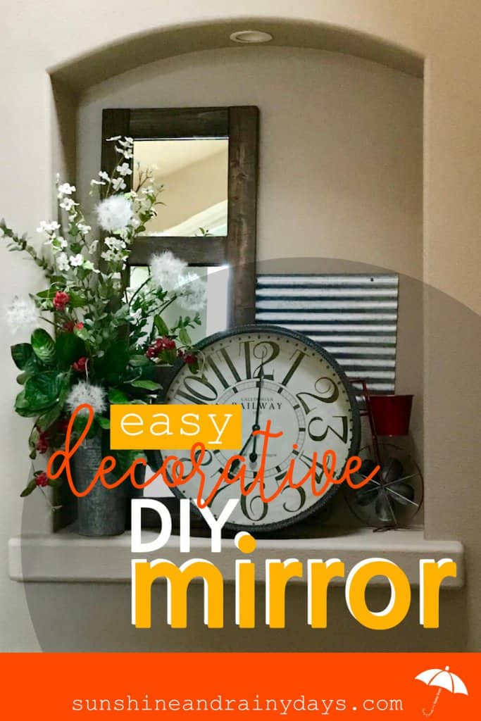 Check out how EASY this Decorative DIY Mirror is to make! There's no need to buy expensive materials to make this mirror. Simple 2 X 4's will do the job!