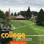 We parents are inundated with ways to make the college transition easier on our kids and we work hard to do just that. Then the day comes when we drive away from campus. That day is hard. It's time to leave and we want to rest assured we've prepared them for this. College Transition | College Transition Tips | #college #moms #SARD