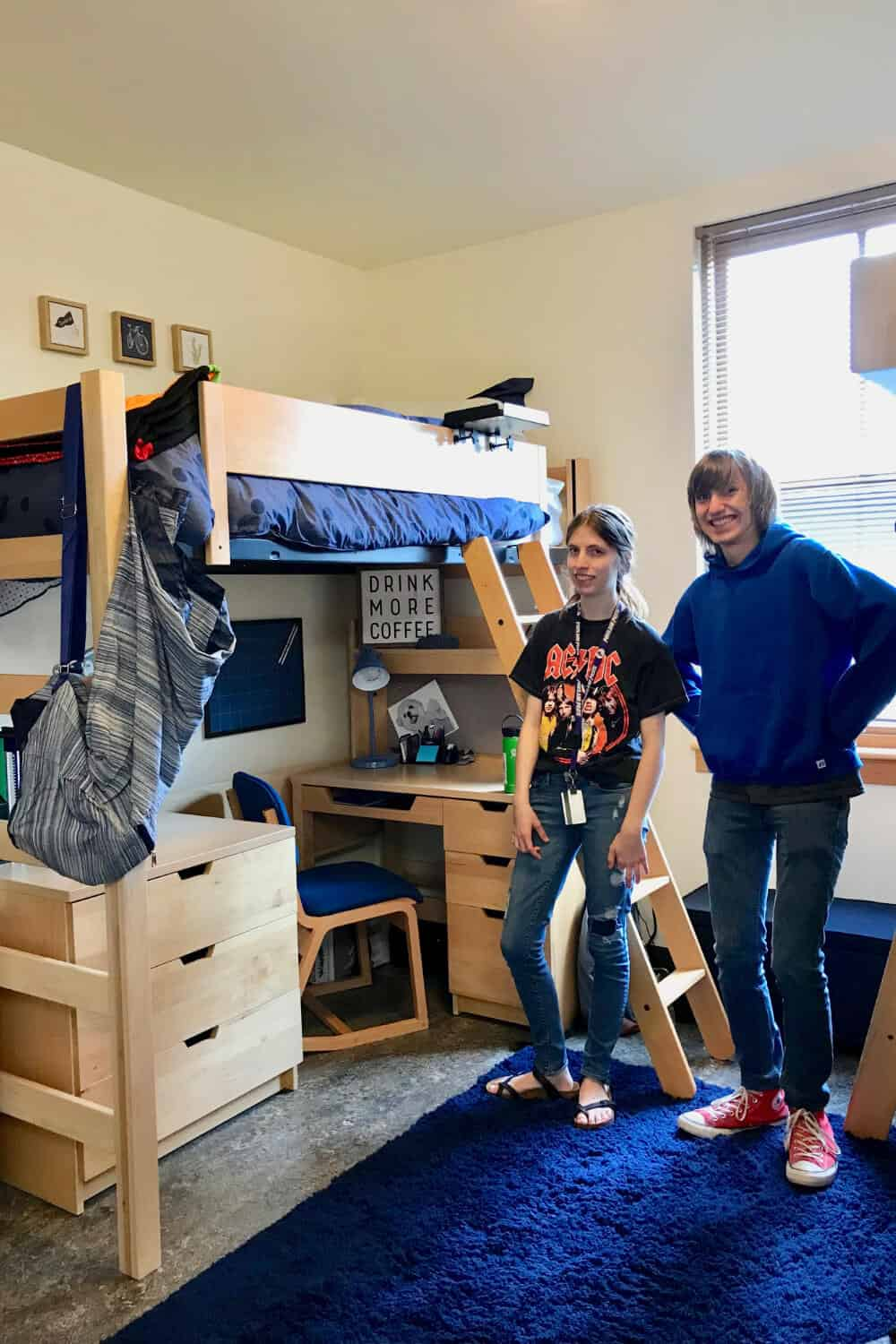 Sister & Brother in Dorm Room