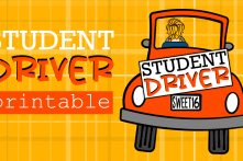 Student Driver Sign For The Teen Driver