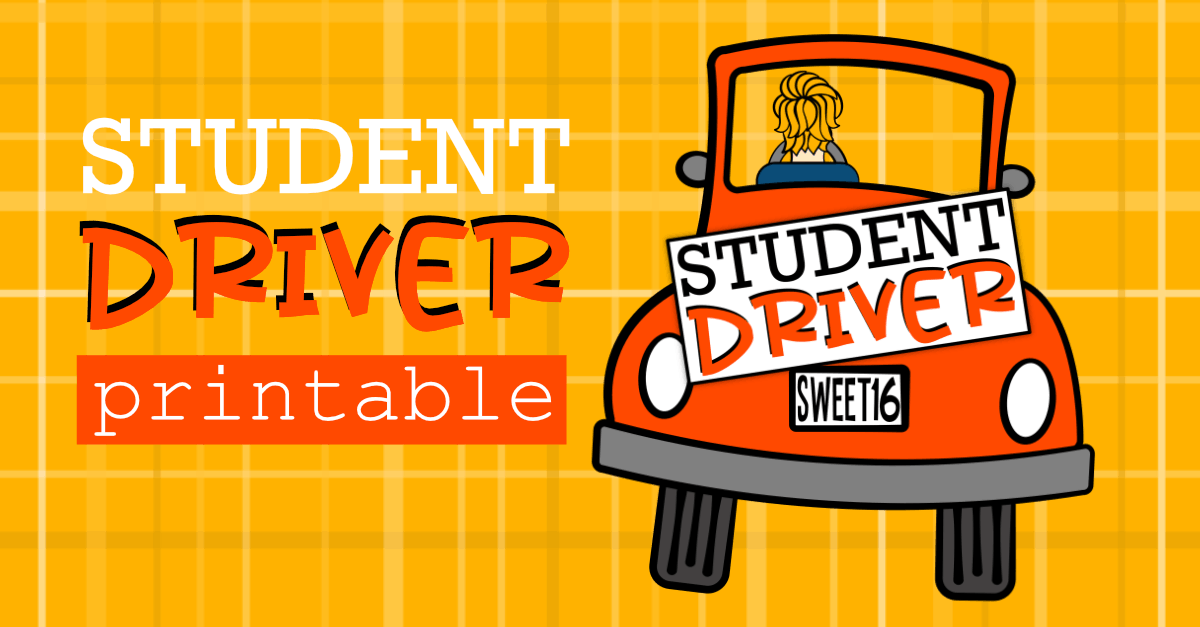 It's just a photo of Crafty Student Driver Sign Printable